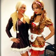 16 - Dana Brooke and Sasha Banks
