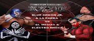 Blue Demon Junior La Parka vs El Mesias Electro Shock