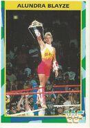1995 WWF Wrestling Trading Cards (Merlin) Alundra Blayze 74