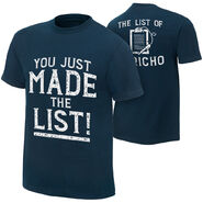 Chris Jericho You Just Made The List T-Shirt