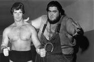 Haystacks Calhoun and Tony Garea