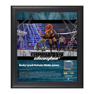 Becky Lynch Elimination Chamber 2017 15 x 17 Framed Plaque w Ring Canvas