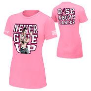John Cena Rise Above Cancer Pink Authentic women's T-Shirt
