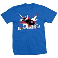 The Blossom Twins British Bombshells Blue Shirt