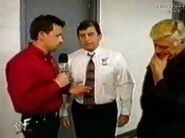 16482 - gerald brisco michael cole microphone over the edge pat patterson wwf