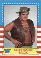 1987 WWF Wrestling Cards (Topps) Outback Jack 14
