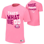 Mark Henry Rise Above Cancer Pink T-Shirt