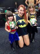 Demi Bennett with fans