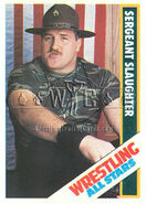 1985 Wrestling All Stars Trading Cards Sergent Slaughter 4