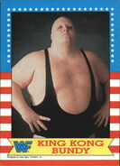 1987 WWF Wrestling Cards (Topps) King Kong Bundy 15