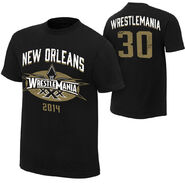 WrestleMania 30 Black & Gold T-Shirt