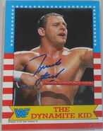 1987 WWF Wrestling Cards (Topps) The Dynamite Kid 20