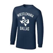 WrestleMania 32 Dallas, TX Youth Long Sleeve T-Shirt