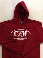 CZW Red Hooded Sweatshirt