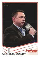 2013 WWE (Topps) Michael Cole 24
