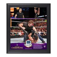 Dean Ambrose Night of Champions 15 x 17 Commemorative Framed Ring Canvas Plaque