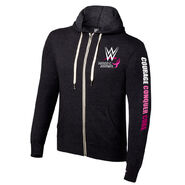 WWE Courage Conquer Cure Full-Zip Unisex Lightweight Hoodie