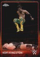 2015 Chrome WWE Wrestling Cards (Topps) Kofi Kingston 41