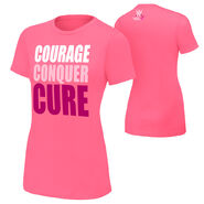 WWE Courage Conquer Cure Women's Pink T-Shirt