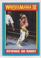 1987 WWF Wrestling Cards (Topps) Revenge On Randy 50