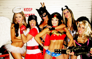 Maria, Victoria, Candice, Trish, Ashley and Mickie Halloween 2005
