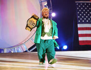 Hornswoggle holding a tittle 108
