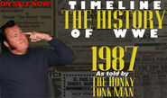 Timeline History of WWE - 1987 Honky Tonk Man