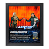 The Miz Backlash 2016 15 x 17 Framed Plaque w Ring Canvas