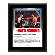 Sami Zayn Battleground 2016 10 x 13 Commemorative Photo Plaque