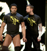David Otunga with CM Punk