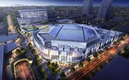 Rendering of Golden 1 Center Solar Array, 2015