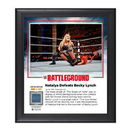 Natalya Battleground 2016 15 x 17 Commemorative Framed Plaque w Ring Canvas