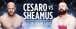 Sheamus v Cesaro Best Of Seven Series Match poster