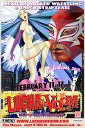 Lucha VaVoom Valentines 2015 Poster