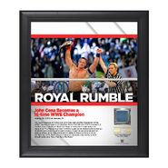 John Cena Royal Rumble 2017 15 x 17 Framed Plaque w Ring Canvas