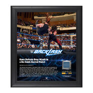 Kane Backlash 2016 15 x 17 Framed Plaque w Ring Canvas
