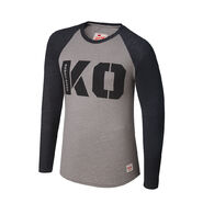 Kevin Owens KO Raglan Long Sleeve Shirt