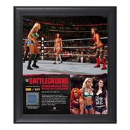Divas Triple Threat Match Battleground 15 x 17 Framed Ring Canvas Photo Collage
