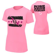 CM Punk Rise Above Cancer Pink Women's Authentic T-Shirt
