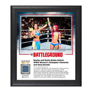 Bayley & Sasha Banks Battleground 2016 Commemorative 15 x 17 Framed Plaque w Ring Canvas