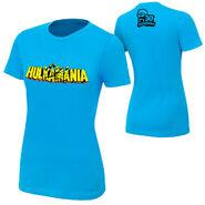 Hulk Hogan Hulkamania Blue T-Shirt women