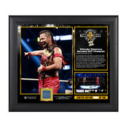 NXT Takeover Brooklyn II Shinsuke Nakamura 15 x 17 Framed Plaque w Ring Canvas