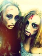 Leah Van Damme and Becky Lynch 2013 NXT Halloween