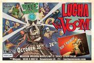 Lucha VaVoom Halloween 2012 Poster