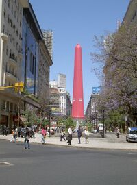 Condom on Obelisk, Buenos Aires