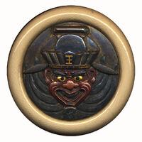 Kagamibuta netsuke front