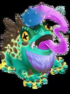 Deep Blue Gobble Frog transparent
