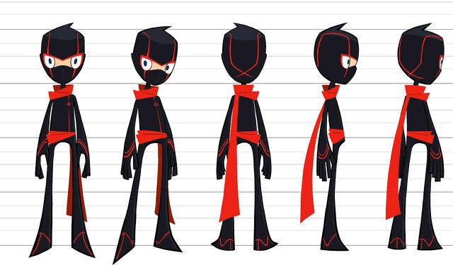 how to draw randy cunningham in ninja suit