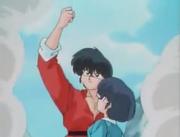 Ranma saves Akane - Jusenkyo Demon Part II