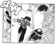 Kodachi slammed by door